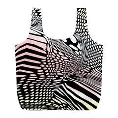 Abstract Fauna Pattern When Zebra And Giraffe Melt Together Full Print Recycle Bags (l)  by Simbadda