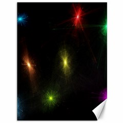 Star Lights Abstract Colourful Star Light Background Canvas 36  X 48   by Simbadda