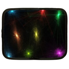Star Lights Abstract Colourful Star Light Background Netbook Case (xl)  by Simbadda