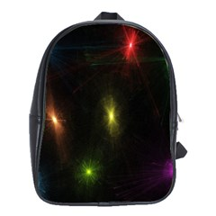 Star Lights Abstract Colourful Star Light Background School Bags(large)  by Simbadda
