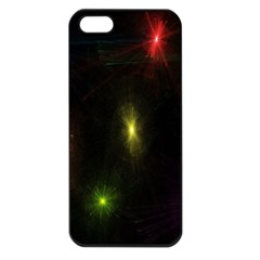Star Lights Abstract Colourful Star Light Background Apple Iphone 5 Seamless Case (black) by Simbadda