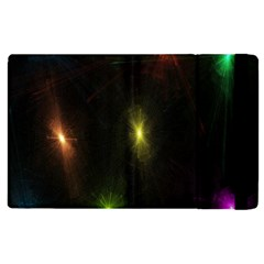 Star Lights Abstract Colourful Star Light Background Apple Ipad 2 Flip Case