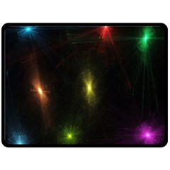 Star Lights Abstract Colourful Star Light Background Double Sided Fleece Blanket (large)  by Simbadda