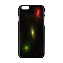 Star Lights Abstract Colourful Star Light Background Apple Iphone 6/6s Black Enamel Case by Simbadda