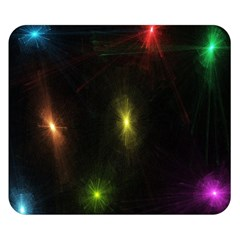 Star Lights Abstract Colourful Star Light Background Double Sided Flano Blanket (small)  by Simbadda