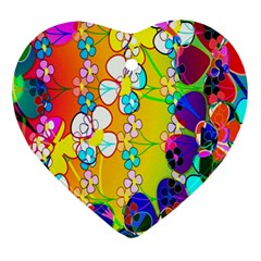 Abstract Flowers Design Ornament (heart) by Simbadda