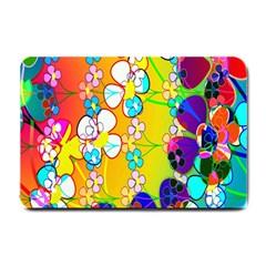 Abstract Flowers Design Small Doormat  by Simbadda