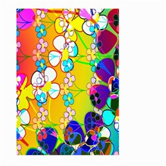 Abstract Flowers Design Large Garden Flag (two Sides) by Simbadda