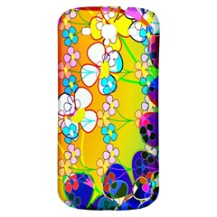 Abstract Flowers Design Samsung Galaxy S3 S Iii Classic Hardshell Back Case by Simbadda