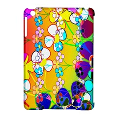 Abstract Flowers Design Apple Ipad Mini Hardshell Case (compatible With Smart Cover) by Simbadda