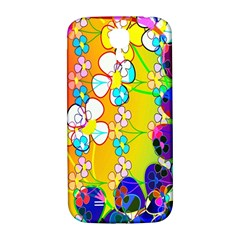 Abstract Flowers Design Samsung Galaxy S4 I9500/i9505  Hardshell Back Case by Simbadda