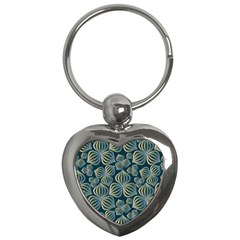 Gradient Flowers Abstract Background Key Chains (heart)  by Simbadda