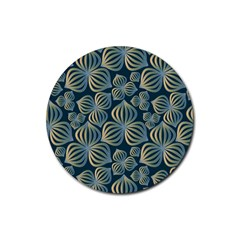 Gradient Flowers Abstract Background Rubber Coaster (round)  by Simbadda