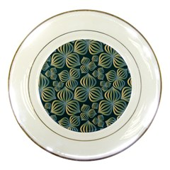 Gradient Flowers Abstract Background Porcelain Plates by Simbadda