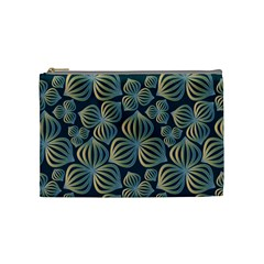 Gradient Flowers Abstract Background Cosmetic Bag (medium)  by Simbadda