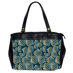 Gradient Flowers Abstract Background Office Handbags (2 Sides)  by Simbadda