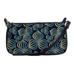 Gradient Flowers Abstract Background Shoulder Clutch Bags by Simbadda