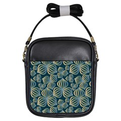Gradient Flowers Abstract Background Girls Sling Bags by Simbadda
