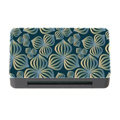 Gradient Flowers Abstract Background Memory Card Reader With Cf by Simbadda