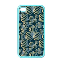 Gradient Flowers Abstract Background Apple Iphone 4 Case (color) by Simbadda