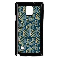 Gradient Flowers Abstract Background Samsung Galaxy Note 4 Case (black) by Simbadda