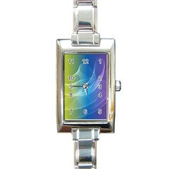 Colorful Guilloche Spiral Pattern Background Rectangle Italian Charm Watch