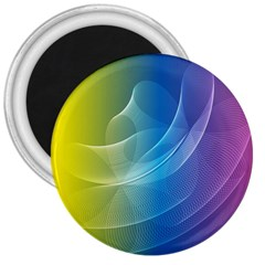 Colorful Guilloche Spiral Pattern Background 3  Magnets by Simbadda