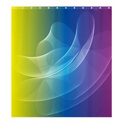 Colorful Guilloche Spiral Pattern Background Shower Curtain 66  X 72  (large)  by Simbadda