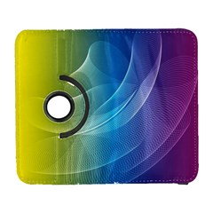 Colorful Guilloche Spiral Pattern Background Galaxy S3 (flip/folio) by Simbadda