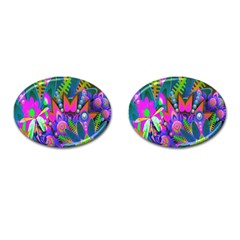 Wild Abstract Design Cufflinks (oval) by Simbadda