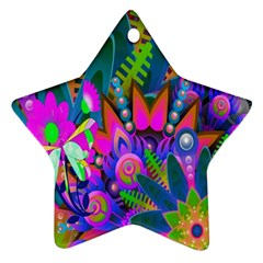 Wild Abstract Design Star Ornament (two Sides) by Simbadda