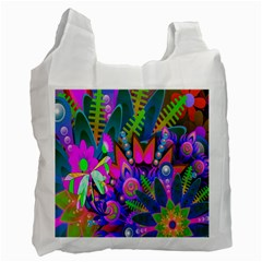Wild Abstract Design Recycle Bag (two Side)  by Simbadda