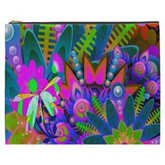Wild Abstract Design Cosmetic Bag (xxxl)  by Simbadda