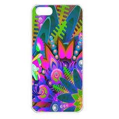 Wild Abstract Design Apple Iphone 5 Seamless Case (white) by Simbadda