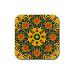 Seamless Orange Abstract Wallpaper Pattern Tile Background Rubber Coaster (square)  by Simbadda