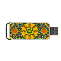 Seamless Orange Abstract Wallpaper Pattern Tile Background Portable Usb Flash (two Sides) by Simbadda