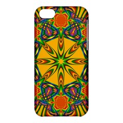 Seamless Orange Abstract Wallpaper Pattern Tile Background Apple Iphone 5c Hardshell Case by Simbadda