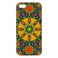 Seamless Orange Abstract Wallpaper Pattern Tile Background Iphone 5s/ Se Premium Hardshell Case by Simbadda