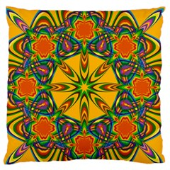 Seamless Orange Abstract Wallpaper Pattern Tile Background Standard Flano Cushion Case (one Side)