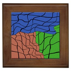 Abstract Art Mixed Colors Framed Tiles by Simbadda