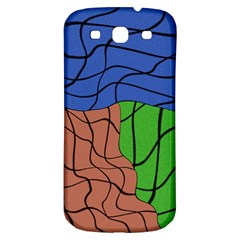 Abstract Art Mixed Colors Samsung Galaxy S3 S Iii Classic Hardshell Back Case by Simbadda