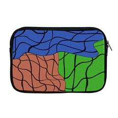 Abstract Art Mixed Colors Apple Macbook Pro 17  Zipper Case by Simbadda