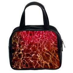 Background Water Abstract Red Wallpaper Classic Handbags (2 Sides) by Simbadda