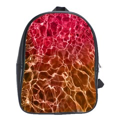Background Water Abstract Red Wallpaper School Bags(large)  by Simbadda