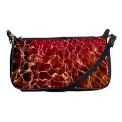 Background Water Abstract Red Wallpaper Shoulder Clutch Bags by Simbadda
