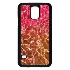 Background Water Abstract Red Wallpaper Samsung Galaxy S5 Case (black) by Simbadda