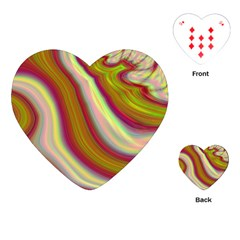 Artificial Colorful Lava Background Playing Cards (heart)  by Simbadda