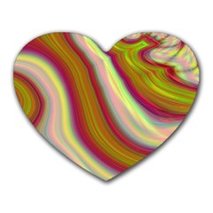 Artificial Colorful Lava Background Heart Mousepads by Simbadda