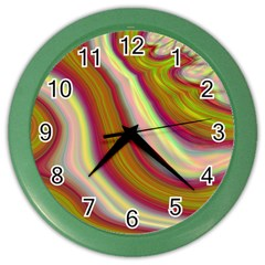 Artificial Colorful Lava Background Color Wall Clocks by Simbadda