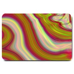 Artificial Colorful Lava Background Large Doormat  by Simbadda